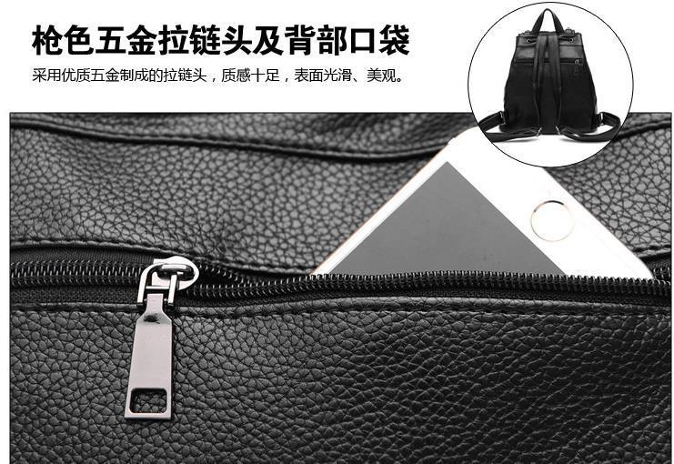 Women Leather Backpacks Students Large School Backpacks,Bookbags K249-1 image 15