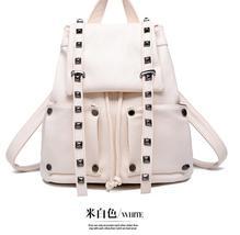 Fashion Rivets Leather Backpacks School Backpacks Large Bookbags K249-5 - $38.99