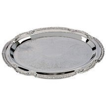 "Sterlingcraft KT404S Silver Finish Serving Tray: 9-3/8"" x 6-3/8 - €1,61 EUR"