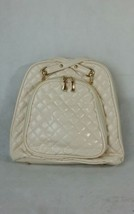 New Beautiful Hexagonal Padded Backpack  Off White/Ivory Color - $28.04