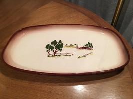 "Brock of California LARGE 9 x 14"" Meat Platter Farmhouse Brown Barn Farm... - $19.79"