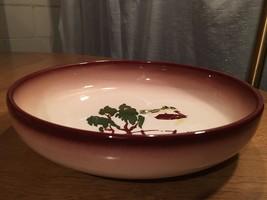 "Brock of California 9"" SERVING BOWL Brown FARMHOUSE HARVEST Dinnerware  - $15.79"