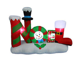 Christmas Inflatable NOEL LED Lights 2016 Yard Garden Party Outdoor Deco... - $69.00