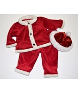 Infant Boy 6-9m HOLIDAY 3pc Red Santa Suit Outf... - $7.99