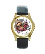 MUPPETS MISS PIGGY ADORABLE GOLD TONE WATCH - $25.21