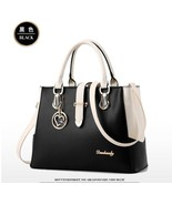 Splicing Style Women Leather Shoulder Bags Large Fashion Handbags Tote B... - $39.99