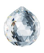 Swarovski Strass 30mm Faceted Ball Clear Prism Amazing Shine Rainbow Maker  - $17.85