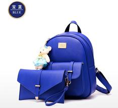 Students Leather School Backpacks Medium Women Backpacks Mixed Color Y258-2 - $39.99