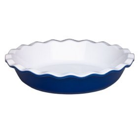 "Emile Henry Provencial Pie Dish 9"" Azure Blue New"