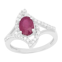 New Designer Women Jewelry Ruby Solid Gemstone Sterling SilverRing Sz L ... - £23.21 GBP