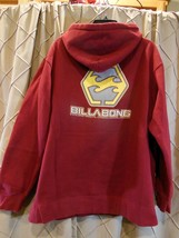 Billabong Hoodie Burgundy With Logo Mens Size Small - $23.72