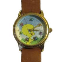 Tweety Bird Warner Bros Watch Leather Strap Mov... - $32.00