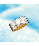 PEANUTS Snoopy Sterling Silver comic SV925 diamond Ring Unexpected JAPAN... - $311.85