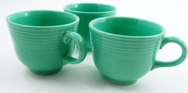 3 Clean EUC Homer Laughlin Fiesta Dinnerware Fiestaware Light Green Coffee Cups image 3