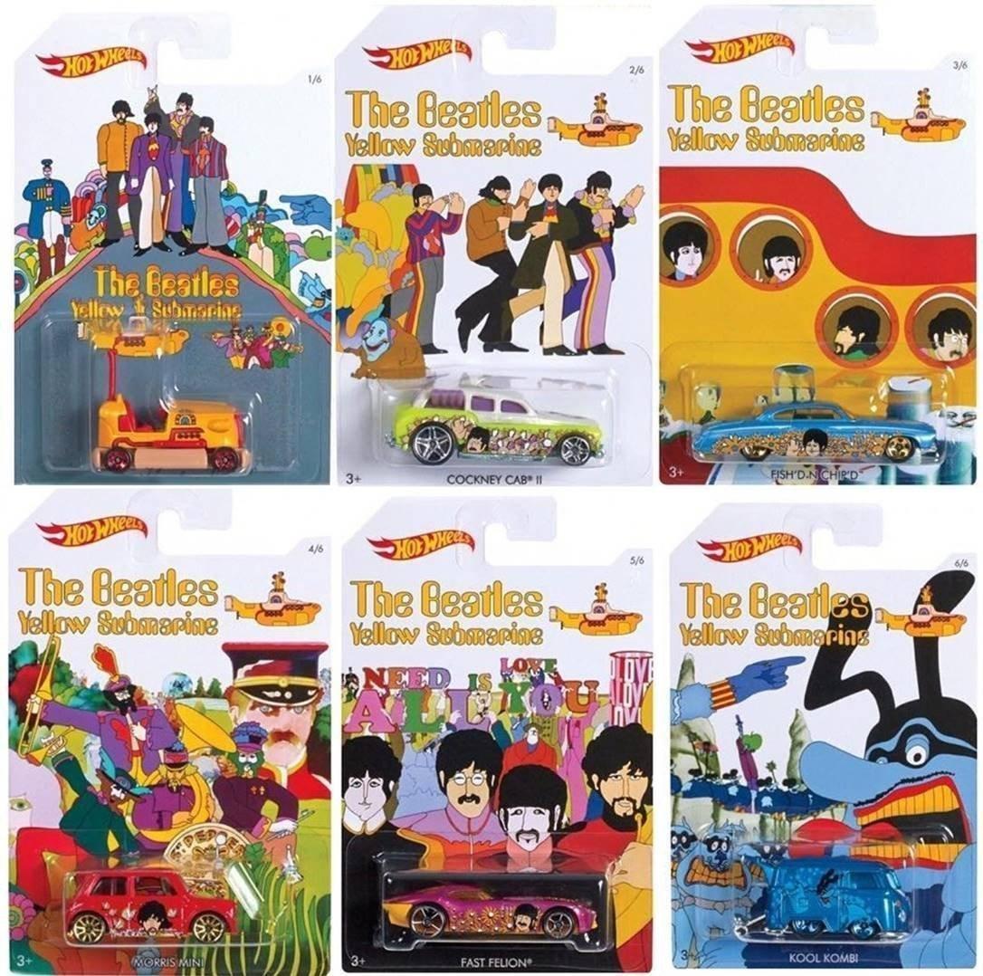 Beatles yellow submarine hot wheels set of 6