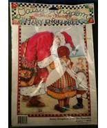 Vintage Mary Engelbreit Iron-On Transfer Christmas  Santa Daisy Kingdom ... - $7.91