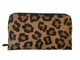 COACH Ocelot Printed Large Leather Cosmetic Case 22 in Natural / Multi 64242 - $138.59