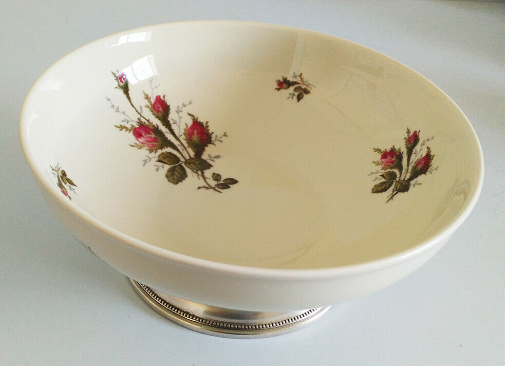 Primary image for Vintage Rosenthal, Germany, Moss Rose Sterling Silver Footed Serving Bowl, Aida