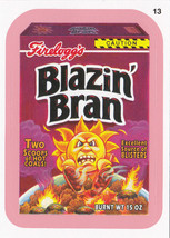 "2012 WACKY PACKAGES ALL NEW SERIES 9 {ANS9} PINK BORDER CARD ""BLAZIN' BR... - $1.00"