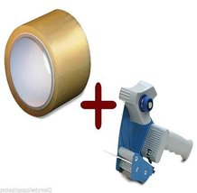 "12 Rolls 3"" x 110 Yards Clear Hotmelt Packing Tape 1.9 Mil + Free 3"" Tap... - $42.09"