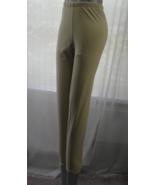 Ornella Polyester Blend Solid Beige Brushed Leg... - $19.99