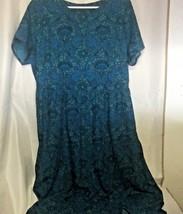 Asos Curve Dress Cut Out Back Teal Blue Green Size 16 Short Sleeve Zippe... - $21.39