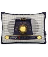 Wouff Barcelona Vintage Styled Radio Rectangular Throw Pillow NWT Retire... - $29.69