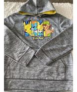 Pokemon Boys Heather Gray Pikachu Chespin Froakie Fenekin Long Sleeve Ho... - $16.93