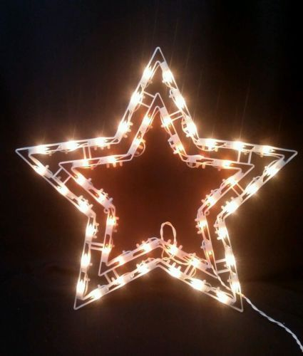 Vintage 20 lighted star christmas window silhouette for 17 clear lighted star christmas window silhouette decoration