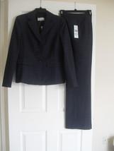 Le Suit Quebec New Womens Dark Plum Three-Button Jacket 2PC Pant Suit   ... - $54.44