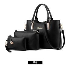 Free Shipping Women Shoulder Bags 3 Bags For A Set Handbags Mixed Color ... - ₨2,783.92 INR+