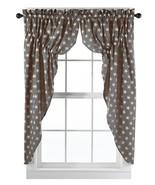 Olivia's Heartland Stargazer Charcoal / Pino Wine fabric window PRAIRIE ... - $62.95