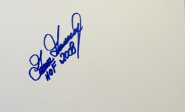 GOOSE GOSSAGE AUTOGRAPHED HAND SIGNED 5x8 INDEX CARD w/COA YANKEES HOF 2008 - $24.99