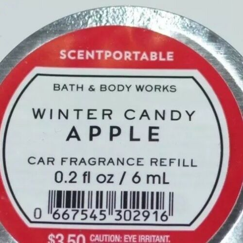 5 BATH & BODY WORKS WINTER CANDY APPLE SCENTPORTABLE FRAGRANCE REFILL DISC CAR