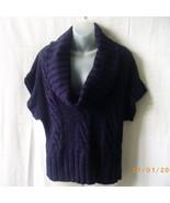 Majorca large purple short sleeve cable acrylic... - $11.25