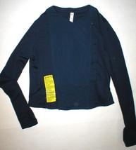 NWT Womens M New Under Armour Studio Blue Sleek Street Jacket Thumbholes... - $44.55
