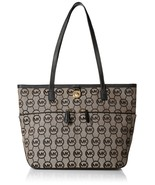 Michael Kors Kempton Medium Pocket Tote Handbag (Medium, Black Signature) - $168.00