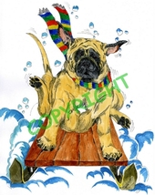 Assorted Mastiff Christmas Cards - $25.00