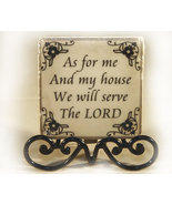 Inspirational Plaque with Black Metal Stand - $7.99