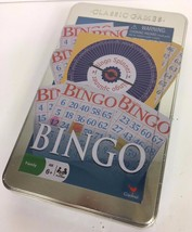 Bingo Classic Games Sealed Tin Full Size Game With Cards Spinner & Marke... - $11.64