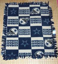 "Dallas Cowboys Patch Fleece Baby Blanket Pet Lap Security 30""x24"" Hand Tied NFL - $39.95"