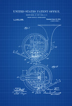French Horn Patent - Patent Print, Wall Decor, Music Poster, Music Art, ... - $9.99