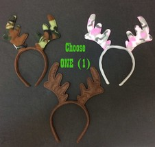 Adult Funny REINDEER ANTLER HEADBAND Ugly Christmas Sweater Moose Costum... - $3.93+