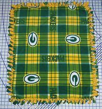 "Green Bay Packers Plaid Fleece Baby Blanket Pet Lap Security 30"" x 24""  NFL  - $39.95"