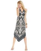 INC International Concepts Printed Asymmetrical-Hem Dress, PET/SM - $44.30
