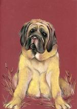 Mastiff Puppy In Red - $18.00