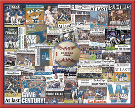 "Chicago Cubs 2016 World Series Newspaper Collage Print Art-16x20"" Unfram... - $19.99"