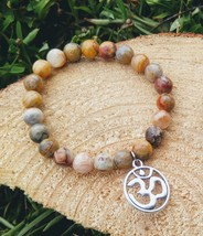 Natural Stone Ohm Stretch Bracelet - $16.00