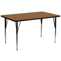 Flash 30''W x 72''L Rectangular Table with Oak ... - $143.99