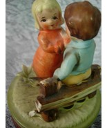 Vintage Music Box - Ceramic Boy and Girl - Some... - $7.00